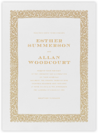 Burano - Medium Gold - Crane & Co. - Classic wedding invitations