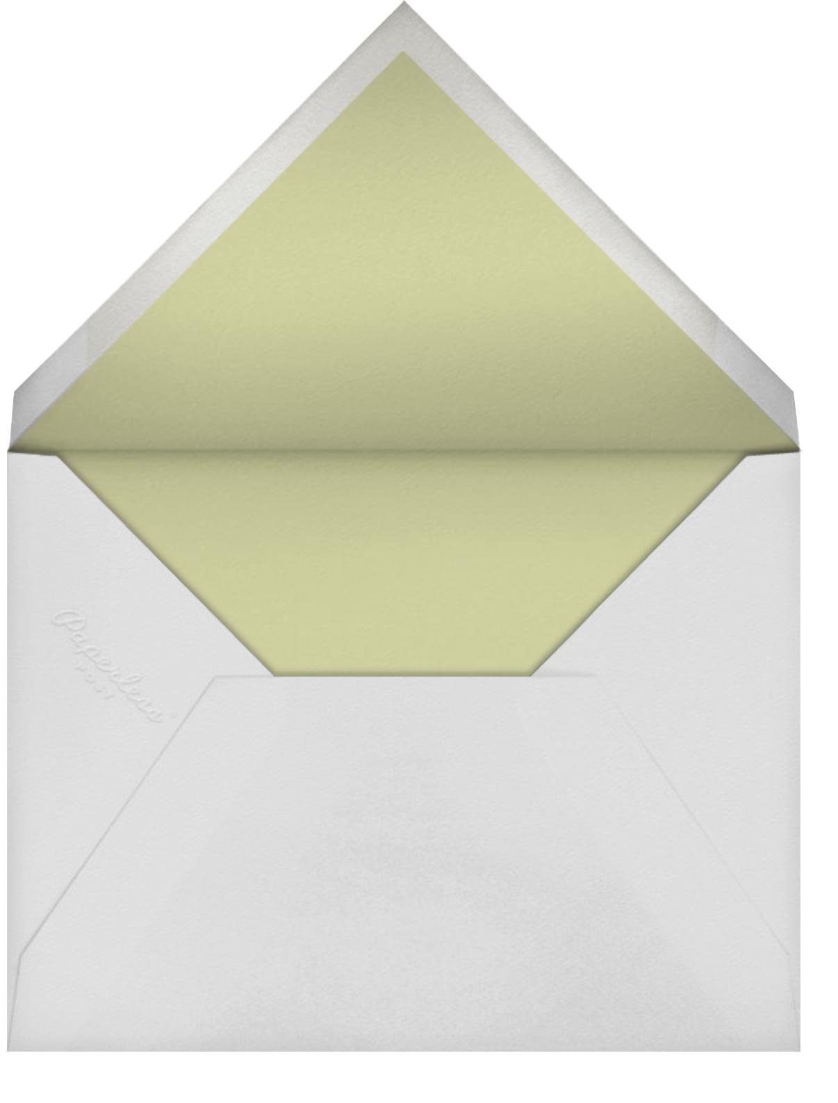 Saranac - Celery and Black - Crane & Co. - null - envelope back