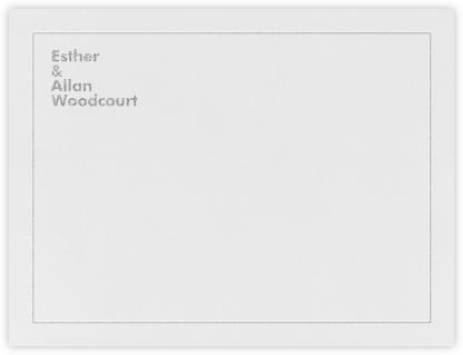Bauhaus (Thank You) - Platinum - Crane & Co. -