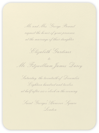 Viceroy - Taupe - Crane & Co. - Wedding Invitations