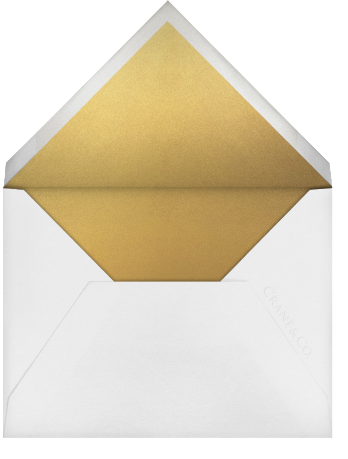 Collins Avenue (Save The Date) - Medium Gold - Crane & Co. - Save the date - envelope back