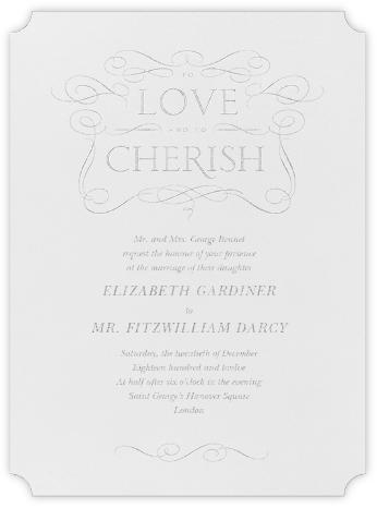 Anjou - Platinum - Crane & Co. - Wedding Invitations