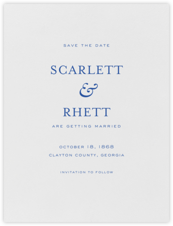 Standish (Save The Date) - Regent Blue - Crane & Co. - Save the dates