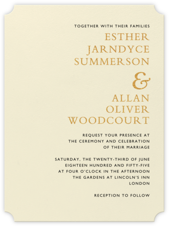 Orient Express – Medium Gold & Black - Crane & Co. - Classic wedding invitations