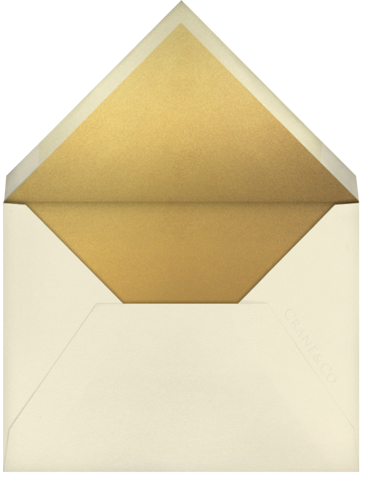 Orient Express – Medium Gold & Black - Crane & Co. - All - envelope back