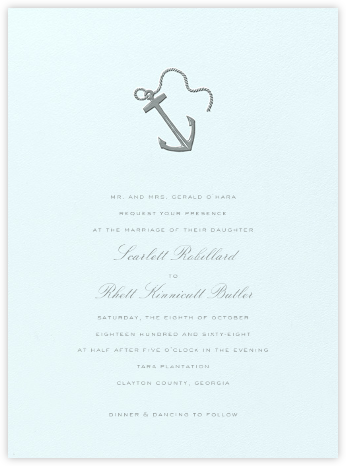 Le Lavandou - Pewter Gray - Crane & Co. - Wedding Invitations