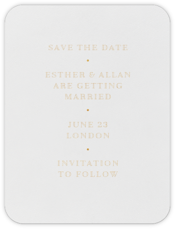 Lacquer (Save The Date) - Medium Gold   null