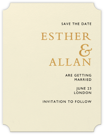 Orient Express (Save The Date) - Medium Gold & Black | null