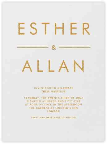 Collins Avenue - Medium Gold - Crane & Co. - Modern wedding invitations