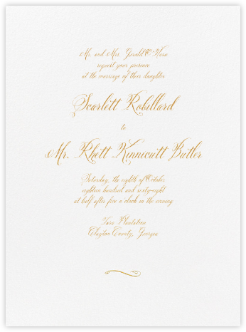 Trasierra - Medium Gold - Crane & Co. - Classic wedding invitations