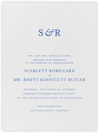 Standish - Regent Blue - Crane & Co. - Classic wedding invitations