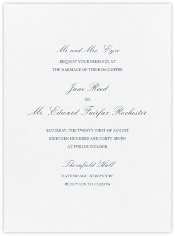 Amboise - Navy - Crane & Co. - Wedding Invitations