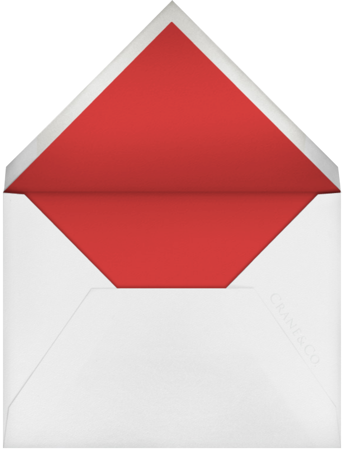 Floral Applique (Save the Date) - Red - Oscar de la Renta - Envelope