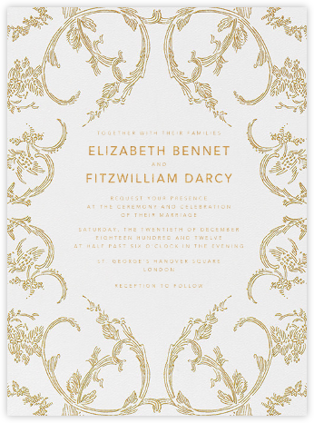 Silk Brocade I - Gold - Oscar de la Renta - Wedding invitations