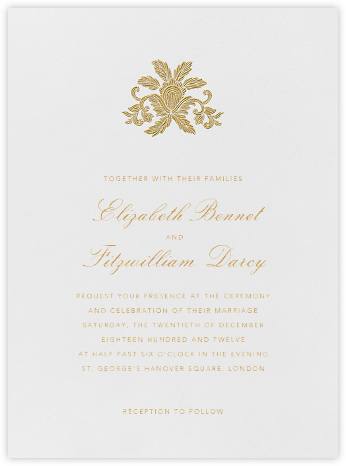 Leaf Lace Il - Medium Gold - Oscar de la Renta - Wedding invitations