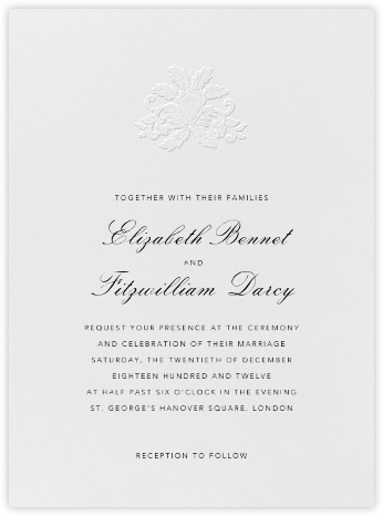 Leaf Lace Il - Blind Emboss - Oscar de la Renta - Wedding Invitations