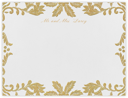 Leaf Lace II (Thank You) - Medium Gold - Oscar de la Renta - Oscar de la Renta Cards