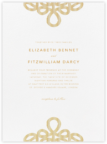 Love Knots - Gold - Oscar de la Renta - Wedding Invitations