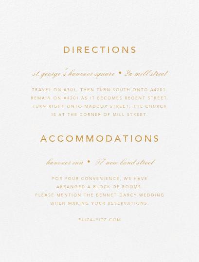 Love Knots - Gold - Oscar de la Renta - Printable invitations - insert front