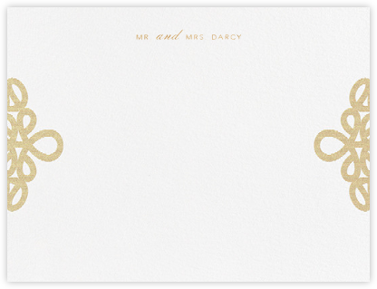 Love Knots (Thank You) - Gold - Oscar de la Renta - Personalized Stationery