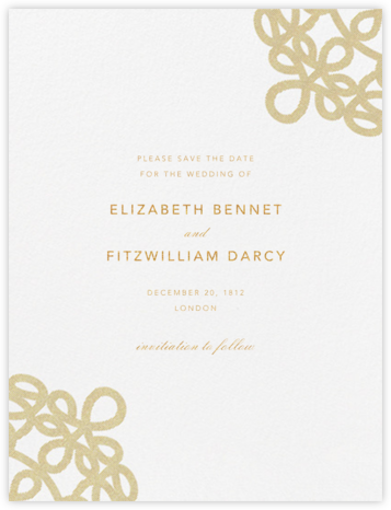 Love Knots (Save The Date) - Medium Gold | null