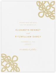 Love Knots (Save The Date) - Medium Gold