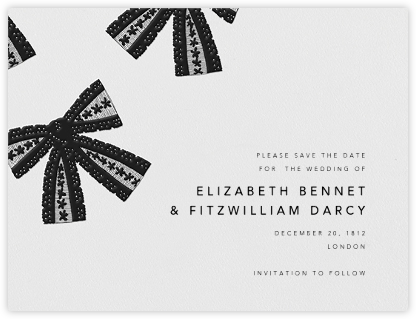 Tie the Knot (Save the Date) - Black | null