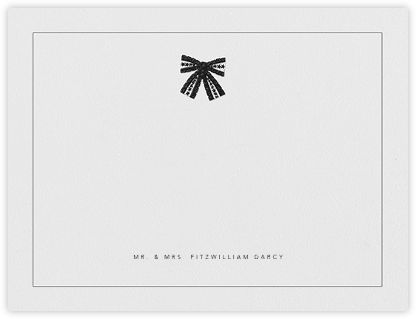 Tie the Knot (Stationery) - Black - Oscar de la Renta -