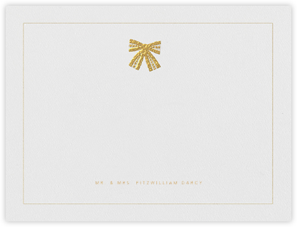 Tie the Knot (Stationery) - Gold - Oscar de la Renta - Oscar de la Renta wedding