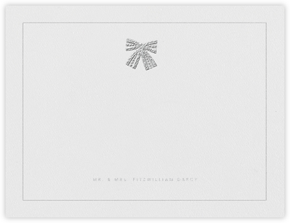 Tie the Knot (Stationery) - Platinum - Oscar de la Renta - Personalized Stationery
