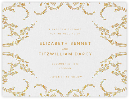 Silk Brocade I (Save the Date) - Gold | null