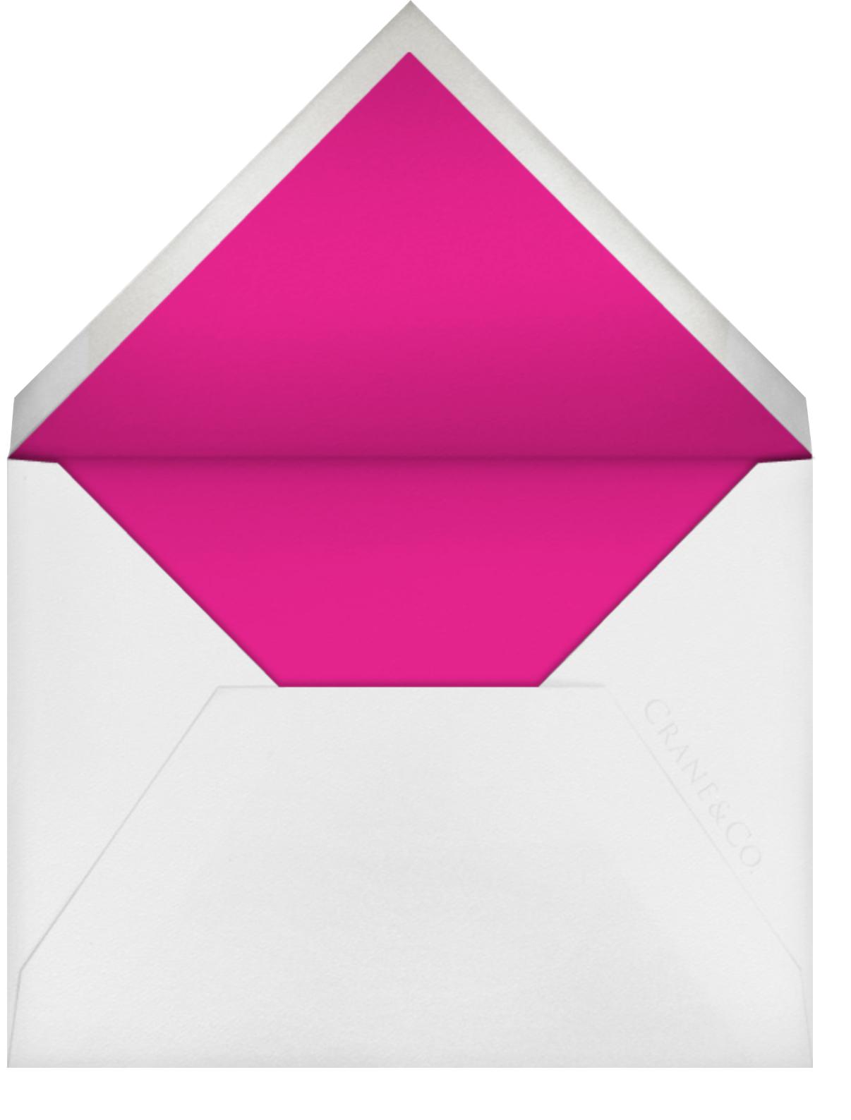 Silk Brocade I (Save the Date) - Raspberry - Oscar de la Renta - Save the date - envelope back