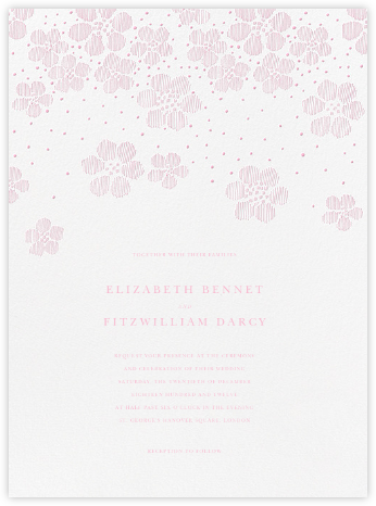 Blossoms on Tulle II - Peony - Oscar de la Renta - Wedding Invitations
