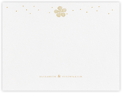Blossoms on Tulle II (Thank You) - Medium Gold | null