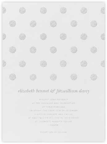 Polka Dot - Platinum - Oscar de la Renta - Wedding Invitations