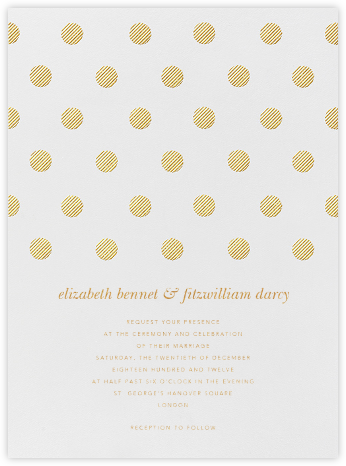Polka Dot - Medium Gold - Oscar de la Renta - Modern wedding invitations