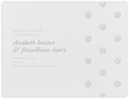 Polka Dot (Save The Date) - Platinum - Oscar de la Renta