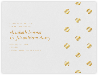 Polka Dot (Save The Date) - Medium Gold | null