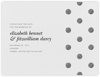 Polka Dot (Save The Date) - Black | null