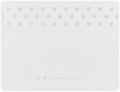 Polka Dot (Thank You) - Platinum - Oscar de la Renta -
