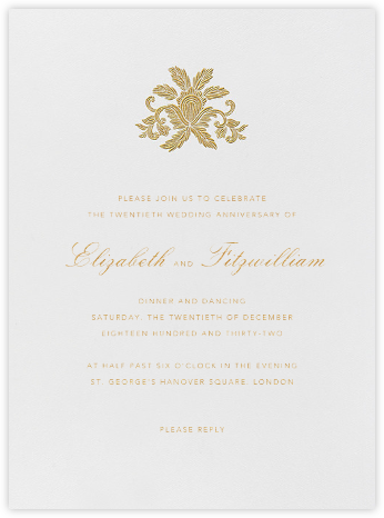 Leaf Lace Il - Medium Gold - Oscar de la Renta - Celebration invitations