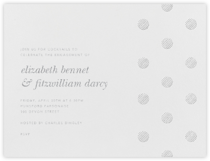 Polka Dot - Platinum - Oscar de la Renta - Engagement party invitations