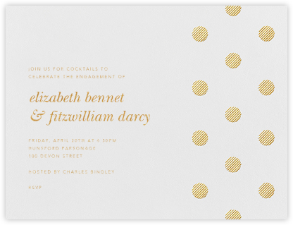 Polka Dot - Medium Gold - Oscar de la Renta - Engagement party invitations
