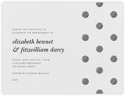 Polka Dot - Black - Oscar de la Renta - Engagement party invitations