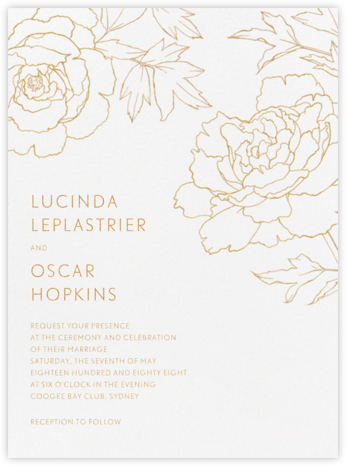 Meet Me in the Menagerie - Medium Gold - Crane & Co. - Online Wedding Invitations