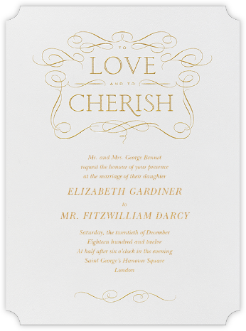 Anjou - Medium Gold - Crane & Co. - Classic wedding invitations