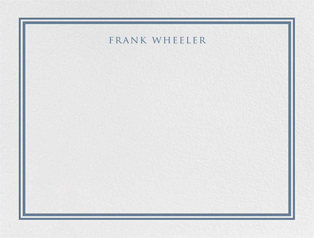 Beacon Hill - French Blue - Paperless Post - Stationery