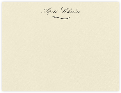 Bethesda - Black - Paperless Post - Personalized Stationery