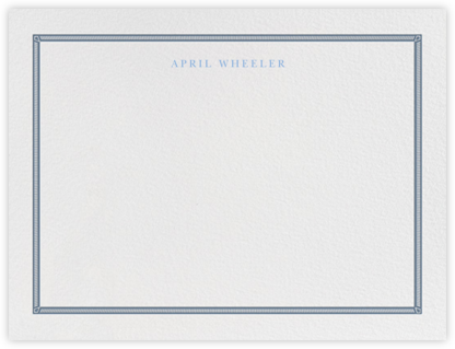 Watch Hill - French Blue - Paperless Post - Personalized Stationery