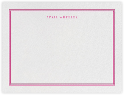 Watch Hill - Raspberry - Paperless Post - Personalized Stationery